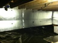 Crawl space that needs to be sealed away from the rest of the home in order to ensure indoor air quality and comfort levels remian