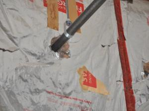 Improper application of insulation in a home in Frankfort, IL.